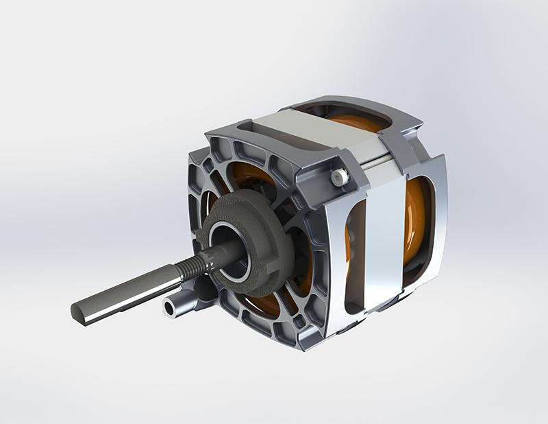 Dryer motor_AC induction motor_Compact design